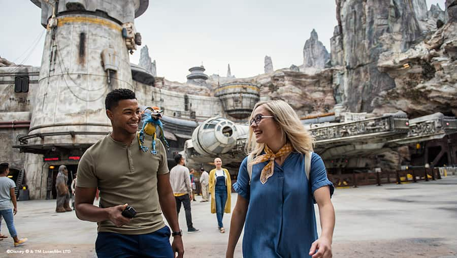 College students at Star Wars: Galaxy's Edge