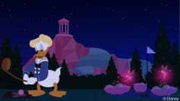 Donald Duck Enjoys Fantasia Gardens Miniature Gol