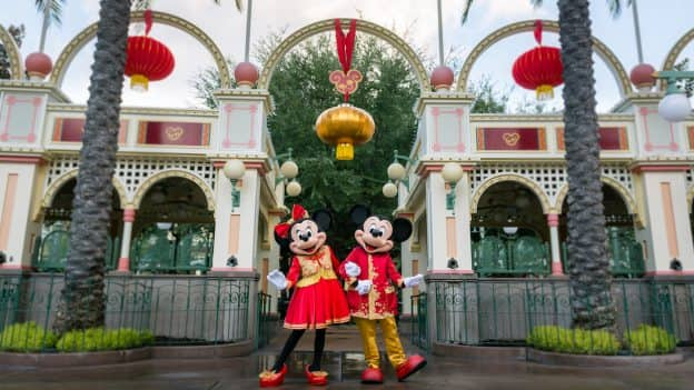Mickey Mouse and Minnie Mouse Kick Off Lunar New Year in Designer Outfits
