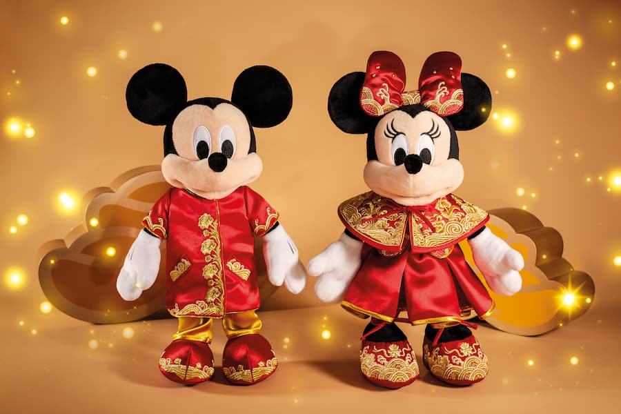Disney Parks Lunar New Year Mickey /& Minnie Mouse Plush 2020 Year of the Mouse