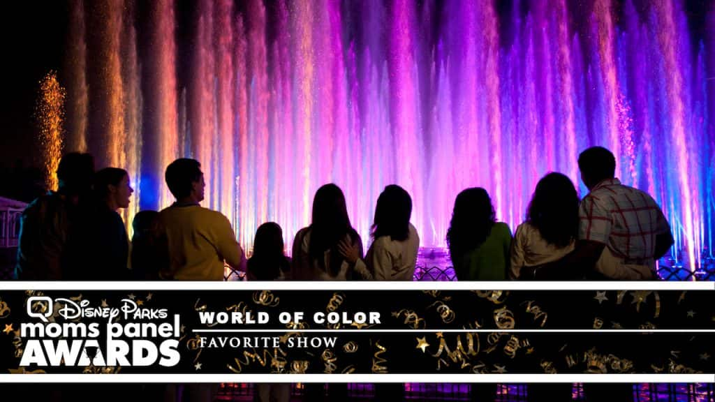 "Guests watching ""World of Color"" at Disney California Adventure Park"