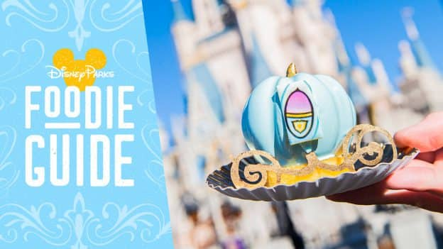 Foodie Guide to Cinderella-Themed Treats at Disney Parks - featuring the Bibbidi-Bobbidi-Boo Cake from Main Street Bakery at Magic Kingdom Park