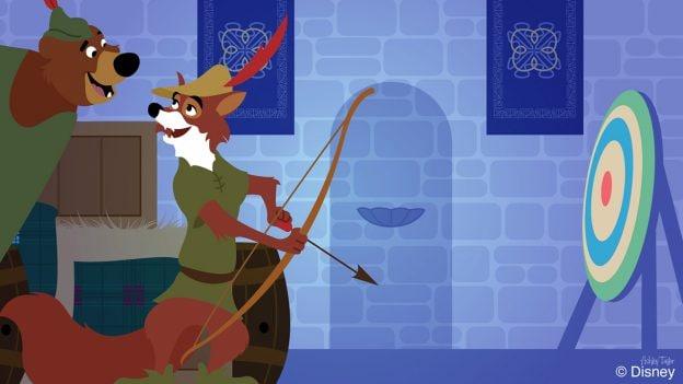 Disney Doodle -Robin & Little John