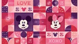 2020 Valentine's Day Mickey Mouse & Minnie Mouse Wallpaper