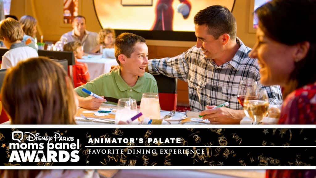 Family eating at Animator's Palate