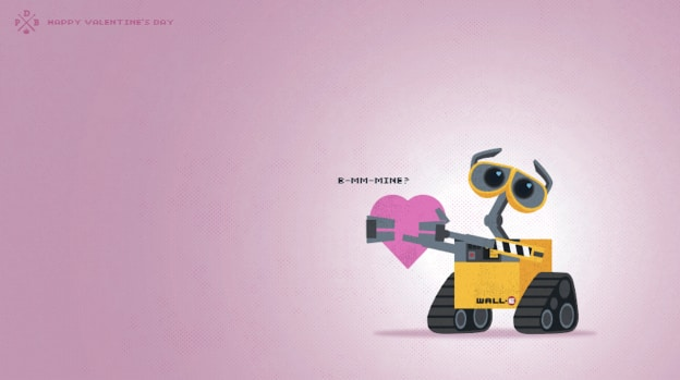 Wall•E Valentine's Day Card