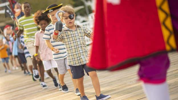 Kids join Captain Hook's Pirate Crew at Walt Disney World Resort