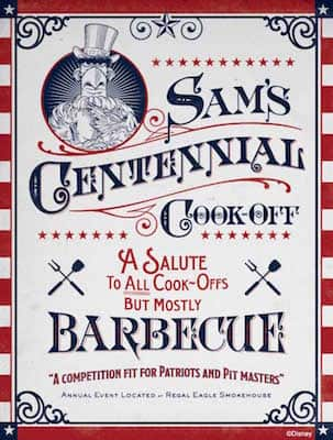 Sam's Centennial Cook-Off Poster from Regal Eagle Smokehouse: Craft Drafts & Barbecue at Epcot