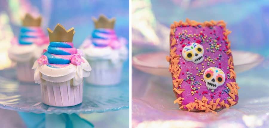 Royal Cupcake and Dia de los Muertos Hand Pie from Jolly Holiday Bakery Cafe for 'Magic Happens' Parade at Disneyland Park