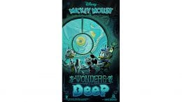 Wonders of the Deep poster for Mickey & Minnie's Runaway Railway