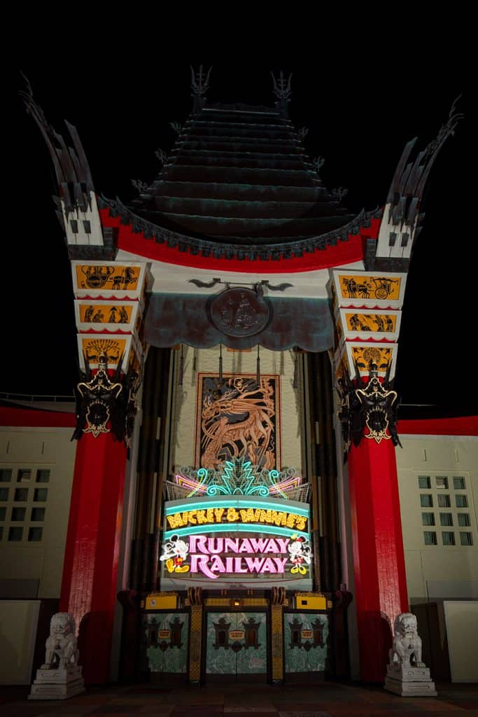 New Marquee for Mickey & Minnie's Runaway Railway at the Chinese Theatre