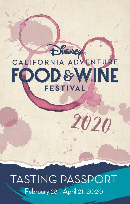 Disney California Adventure Food & Wine Festival 2020 Tasting Passport