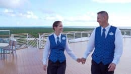 Oliver and Irena Dukic are dining room servers aboard the Disney Magic. The couple have been married since 2013