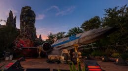 An X-Wing at Star Wars: Galaxy's edge