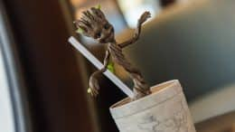 """I am Groot""-inspired drinkware"
