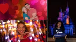 Valentine's Day photo options from Disney PhotoPass Service