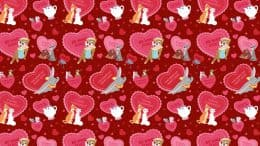 'Disney Hearts' Digital Wallpaper