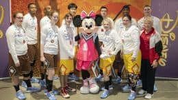 Minnie Mouse with Special Olympics Athletes at NBA All-Star 2020 In Chicago