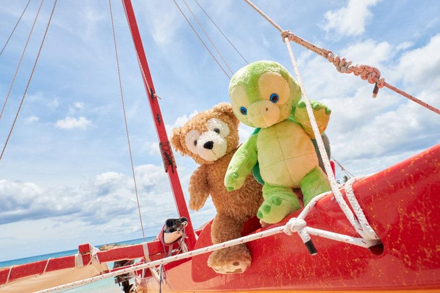 Duffy and 'Olu Mel at Aulani, A Disney Resort & Spa