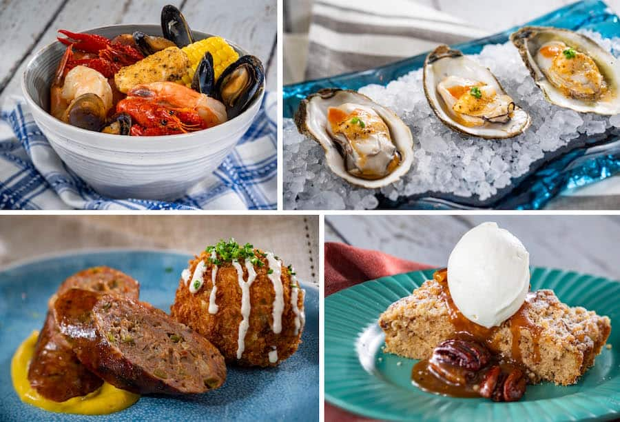 Offerings from the Magnolia Terrace Outdoor Kitchen for the 2020 EPCOT International Flower & Garden Festival