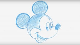 Drawing of Mickey Mouse - Contemporary