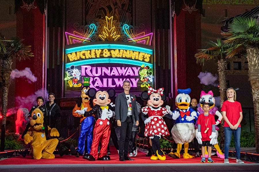 Walt Disney World Resort President Josh D'Amaro at Mickey & Minnie's Runaway Railway dedication celebration