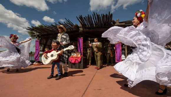 Miguel from Disney Pixar's Coco at the EPCOT International Flower & Garden Festival