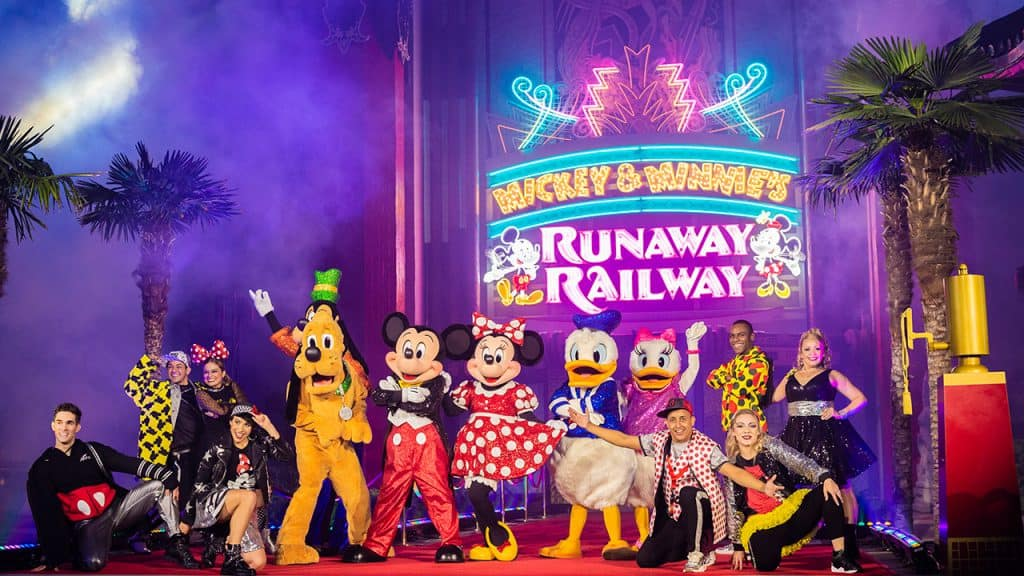 Mickey, Minnie and Pals at the Grand Opening of Mickey & Minnie's Runaway Railway at Disney's Hollywood Studios