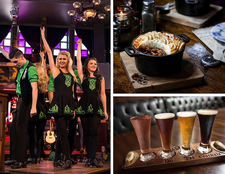 Raglan Road Irish Dancers, food and drink options, Raglan Road Irish Pub & Restaurant at Disney Springs