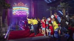 Cast Members and Their Families at the opening of Mickey & Minnie's Runaway Railway