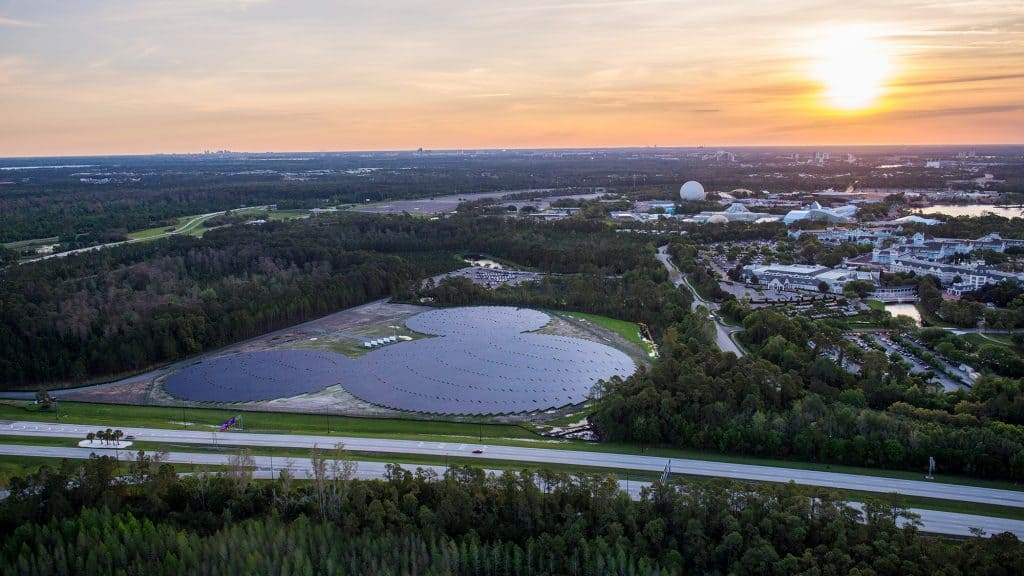 Solar panels at Walt Disney World Resort