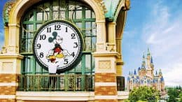 Clock tower at Shanghai Disneyland