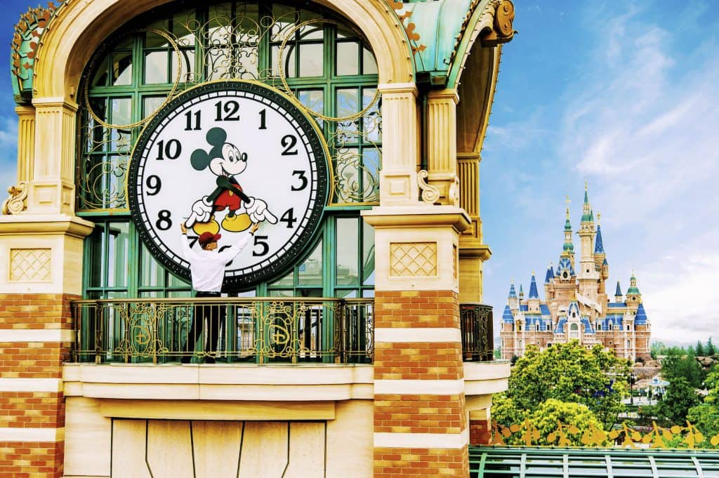 Clock tower at Shanghai Disneyland