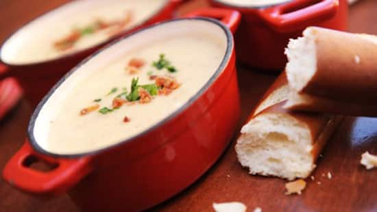 Recipe for Popular Canadian Cheddar Cheese Soup from Le Cellier Steakhouse at EPCOT