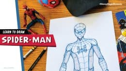 Learn how to draw Spider-Man