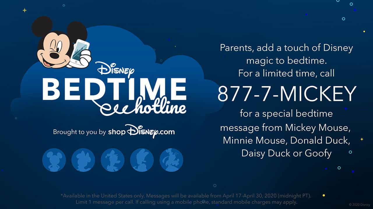 Disney Bedtime Hotline, Brought to You by shopDisney.com, Returns for a Limited Time