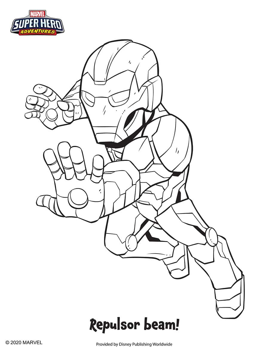 Iron Man Coloring Sheet