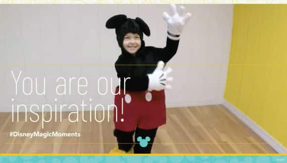 You are our inspiration! #DisneyMagicMoments