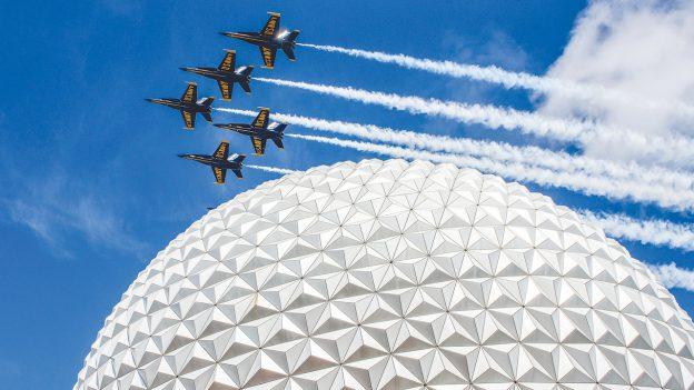 U.S. Navy's Blue Angels over EPCOT
