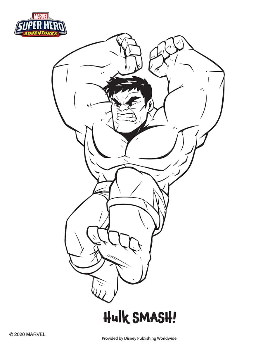 Hulk Coloring Sheet