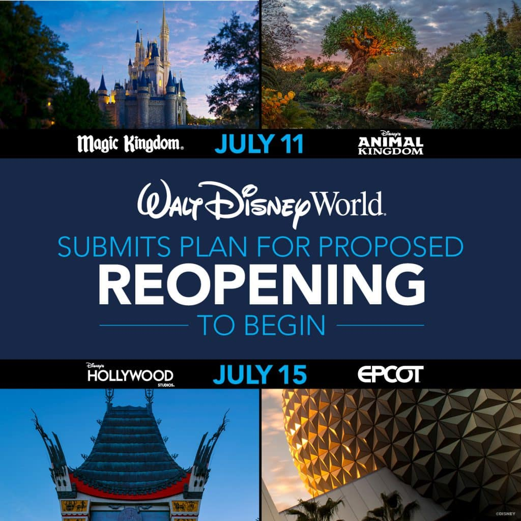 Plán znovuotevření Walt Disney Worldu na Floridě