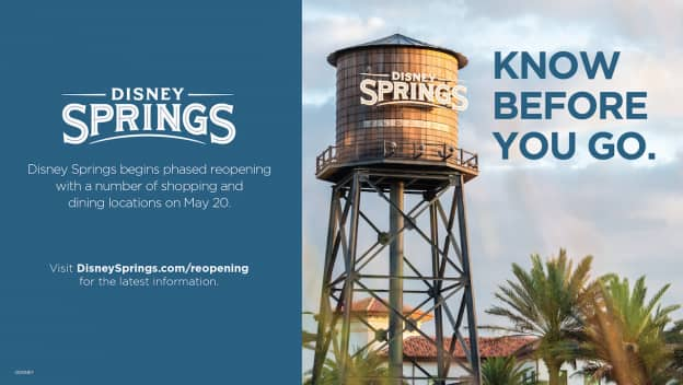 Phased Reopening of Disney Springs at Walt Disney World Resort