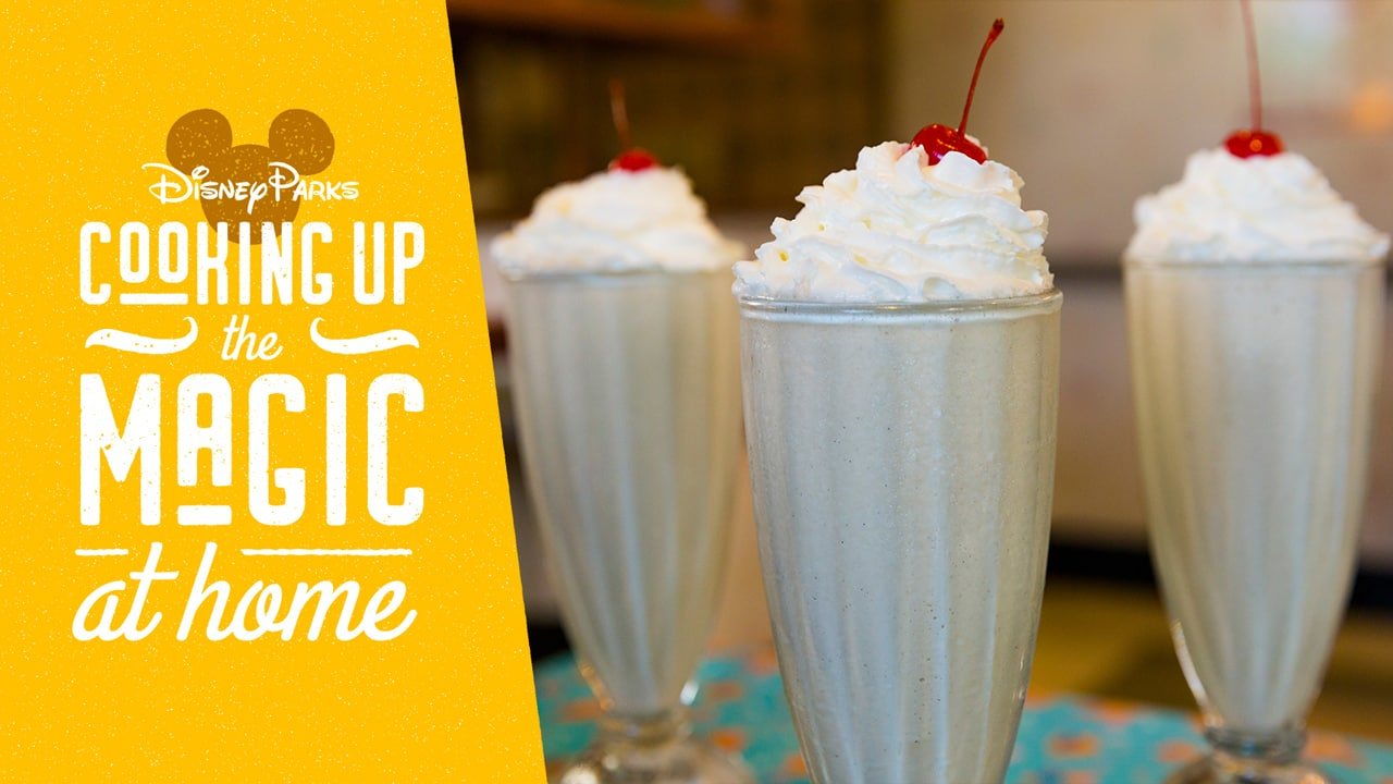 #DisneyMagicMoments: Elbows off the Table – Here Comes the Peanut Butter & Jelly Milk Shake from 50's Prime Time Café