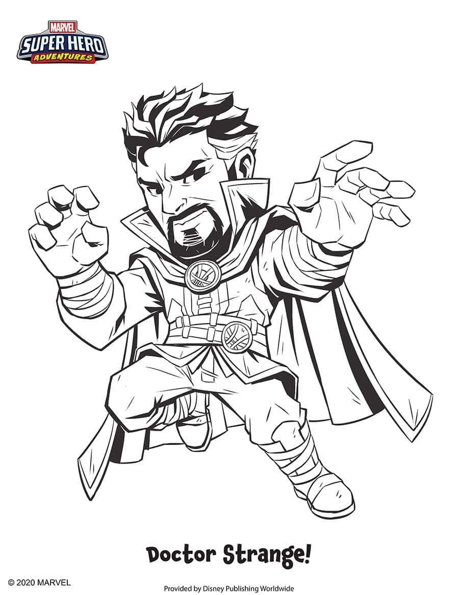 Doctor Strange Coloring Sheet
