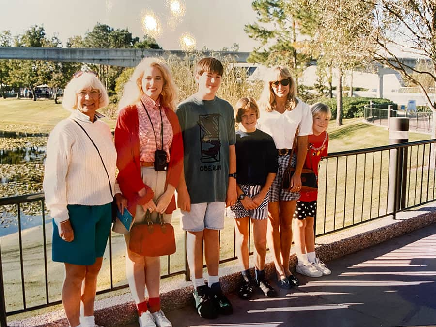 Betsy. S and her mom and grandmother at Epcot.