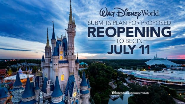 Walt Disney World Submits Plan for Proposed Reopening to begin July 11