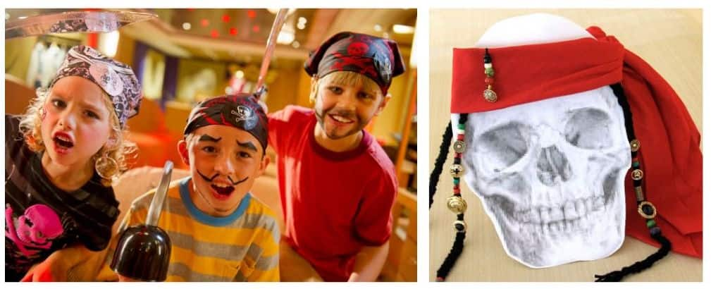#DisneyCruiseLife at Home: A Pirate Life for You! Kids on pirate night and a pirate bandana