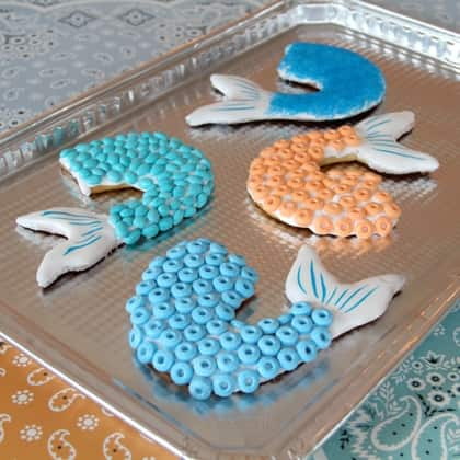 mermaid tail cookies