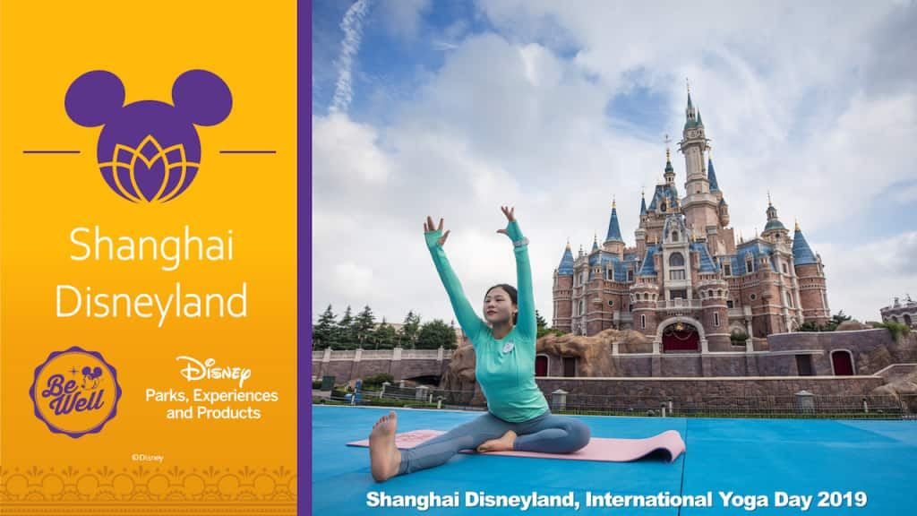 Disneymagicmoments Cast Members Around The World Celebrate International Yoga Day Disney Parks Blog