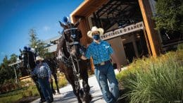 Animal care team and horses at new Tri-Circle D Ranch at Disney's Fort Wilderness Resort & Campground